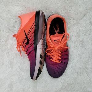 Nike TR 6 Orange & Purple Training Shoes Size 6.5
